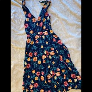 Betsey Johnson Floral Tea Length Chiffon Dress